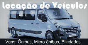 Locação de Vans, Ônibus, Micro-ônibus, Veículos Blindados com Motorista